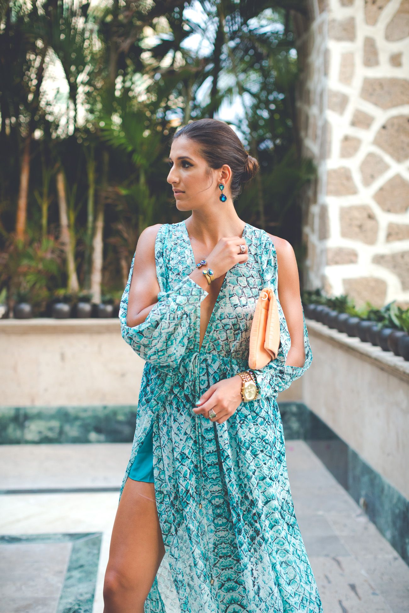 Plunging Maxi Dress Style Pinterest Dresses Vacation outfits