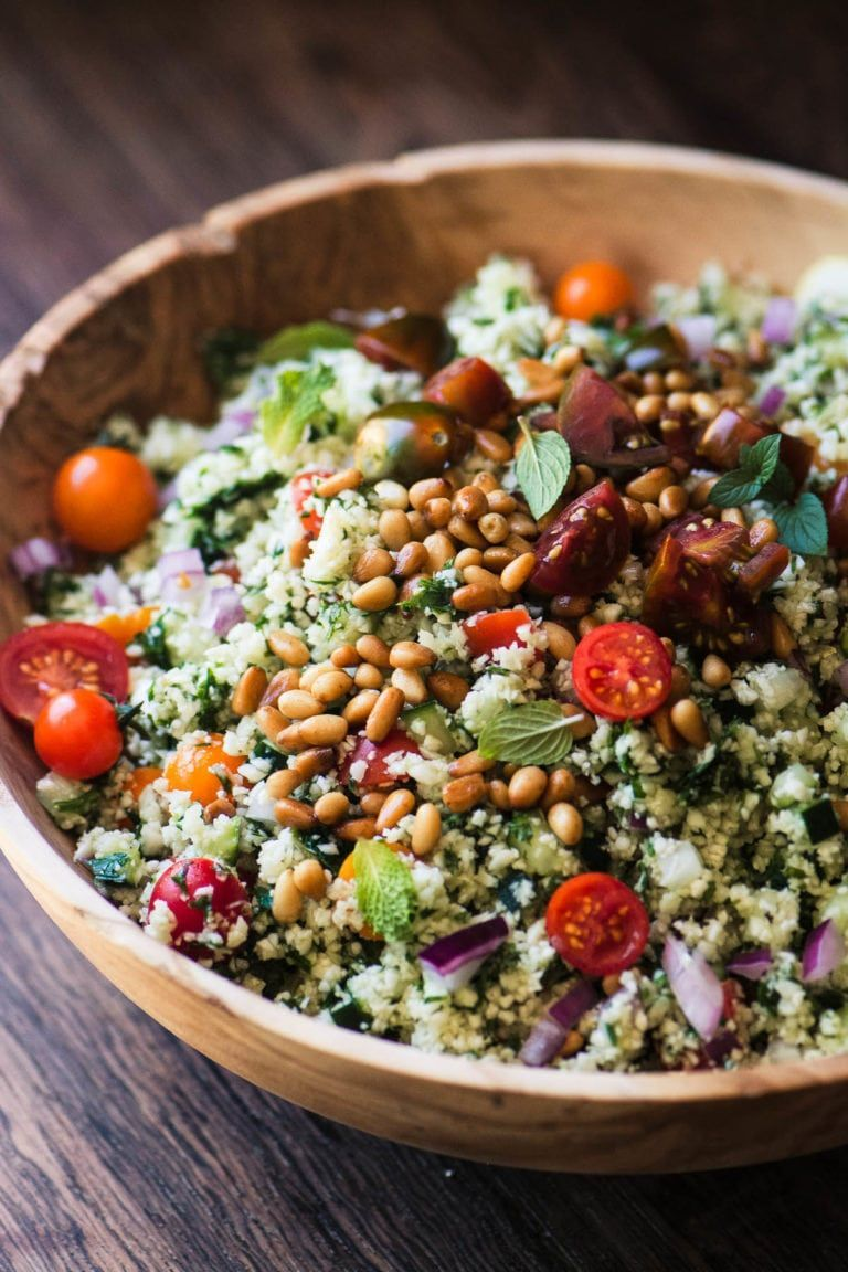 Cauliflower Rice Tabbouleh | The View from Great Island