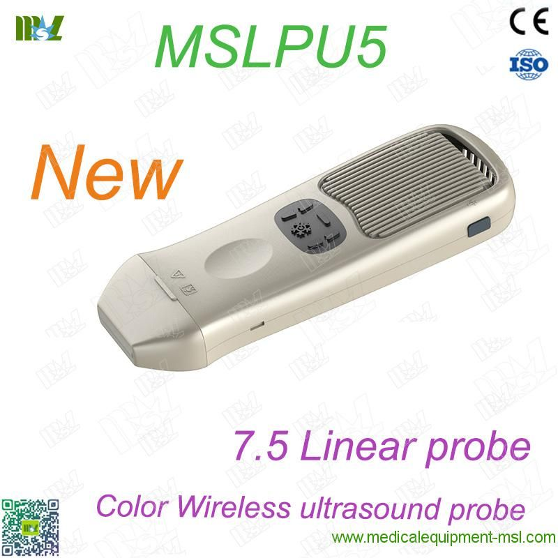 Color doppler wireless ultrasound scanner linear probe