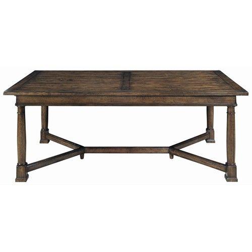 Vintage Patina Mahogany Trestle Table By Bernhardt