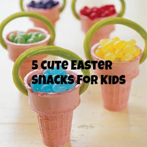 Candy Jelly Bean Baskets Made Out Of Ice Cream Cones And Licorice Could Also Make These Healthy Treats By Putting Berries Or Anything Small