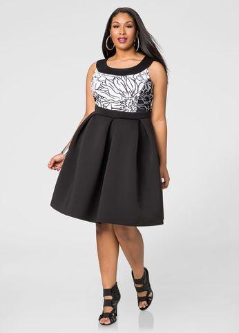 e891d69bc43 Box Pleat Neoprene Skirt Box Pleat Neoprene Skirt