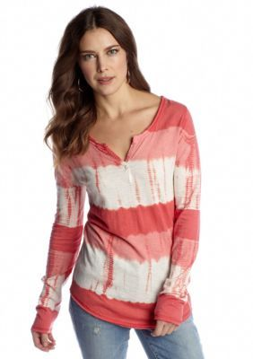 Lucky Brand  Watercolor Stripe Tee