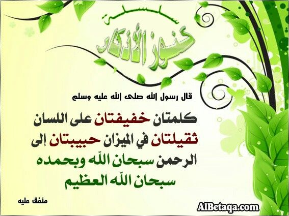 سبحان الله وبحمده سبحان الله العظيم Words Quotes Words Words Of Wisdom