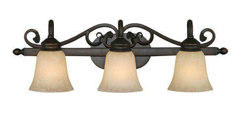 Golden Lighting Belle Meade 3 Light Vanity Floor Sample On Clearance Gl 4074