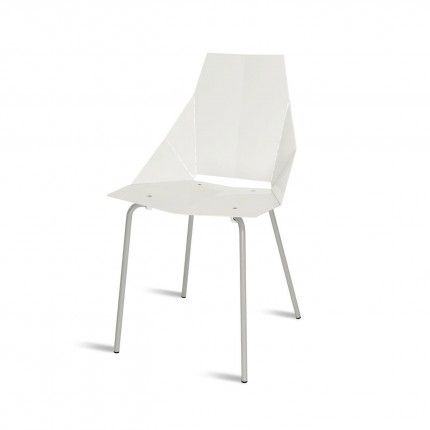 Real Good Chair, Sill En Color Marfil De Acero. Diseño BluDot.