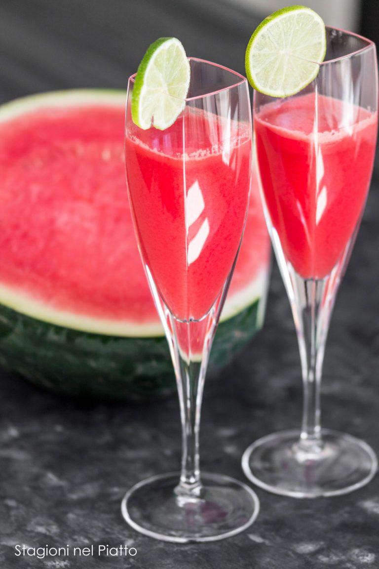 Cocktail Con Anguria E Prosecco Nel 2020 Bevande Aperitivo Aperitivo Bevande Estive Analcoliche
