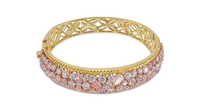 An exquisite 1448 carats pink diamond bracelet set in 18k