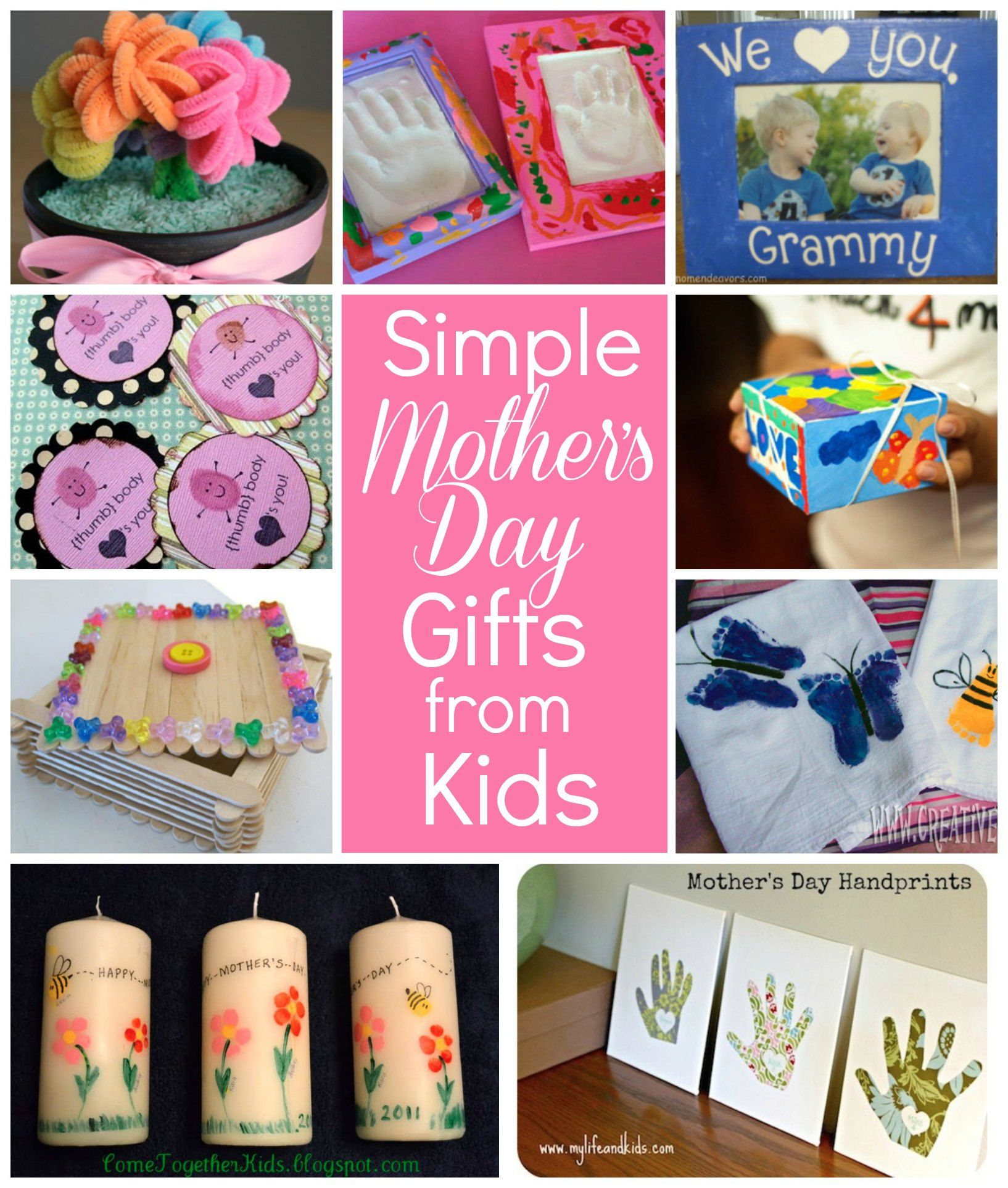 10 Simple Mothers Day gifts kids can make! MothersDay via @Sara W  Mother\u002639;s Day  Pinterest
