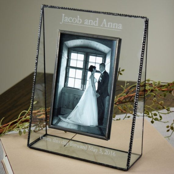 Personalized Wedding Picture Frame Engraved Glass Photo Frame Gift