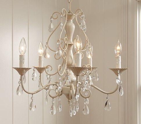 clear alyssa chandelier pottery barn kids