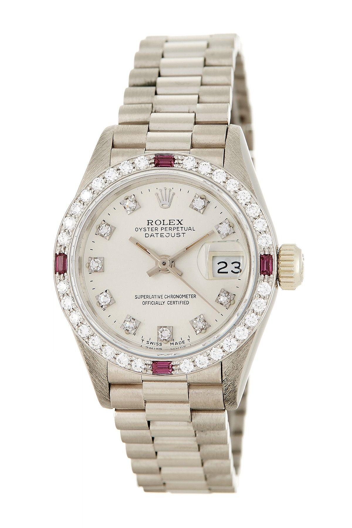 2ed9d6d4536 Relógios Femininos · Vintage Rolex Women s Datejust President Diamond  Automatic Watch