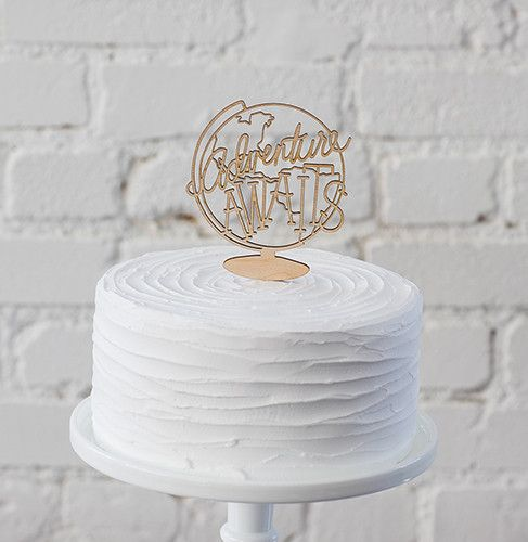Party Cake Topper Wedding Cake Topper Retirement Topper Adventure Awaits Cake Topper Birthday Party Decor Engagement Party Decorations