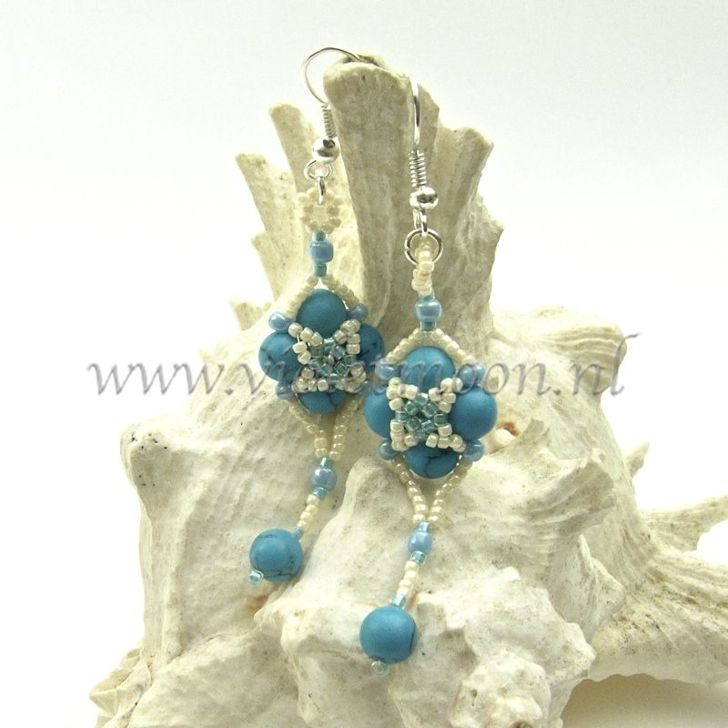 O. 041406b Follow Me Earrings Tutorial  Tutorial for beaded earrings in my shop.  Handleiding voor beaded oorbellen in mijn shop.