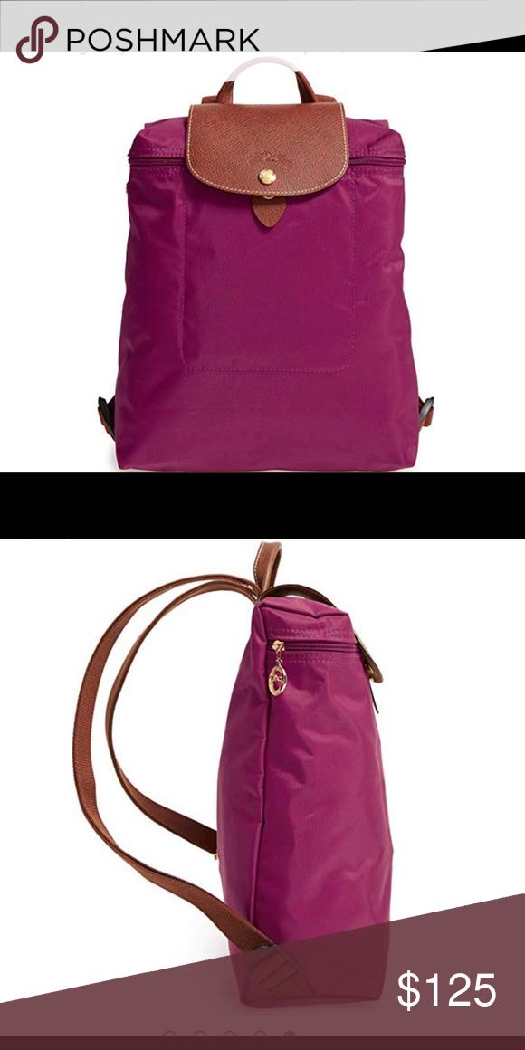 Longchamp Le Pliage backpack - Dahlia purplish Features   details 10