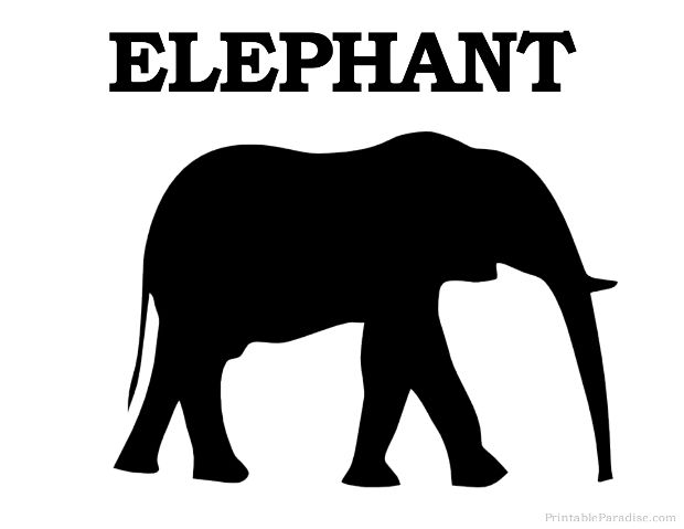 graphic regarding Printable Elephant Pictures identified as Printable Elephant Silhouette - Print No cost Elephant