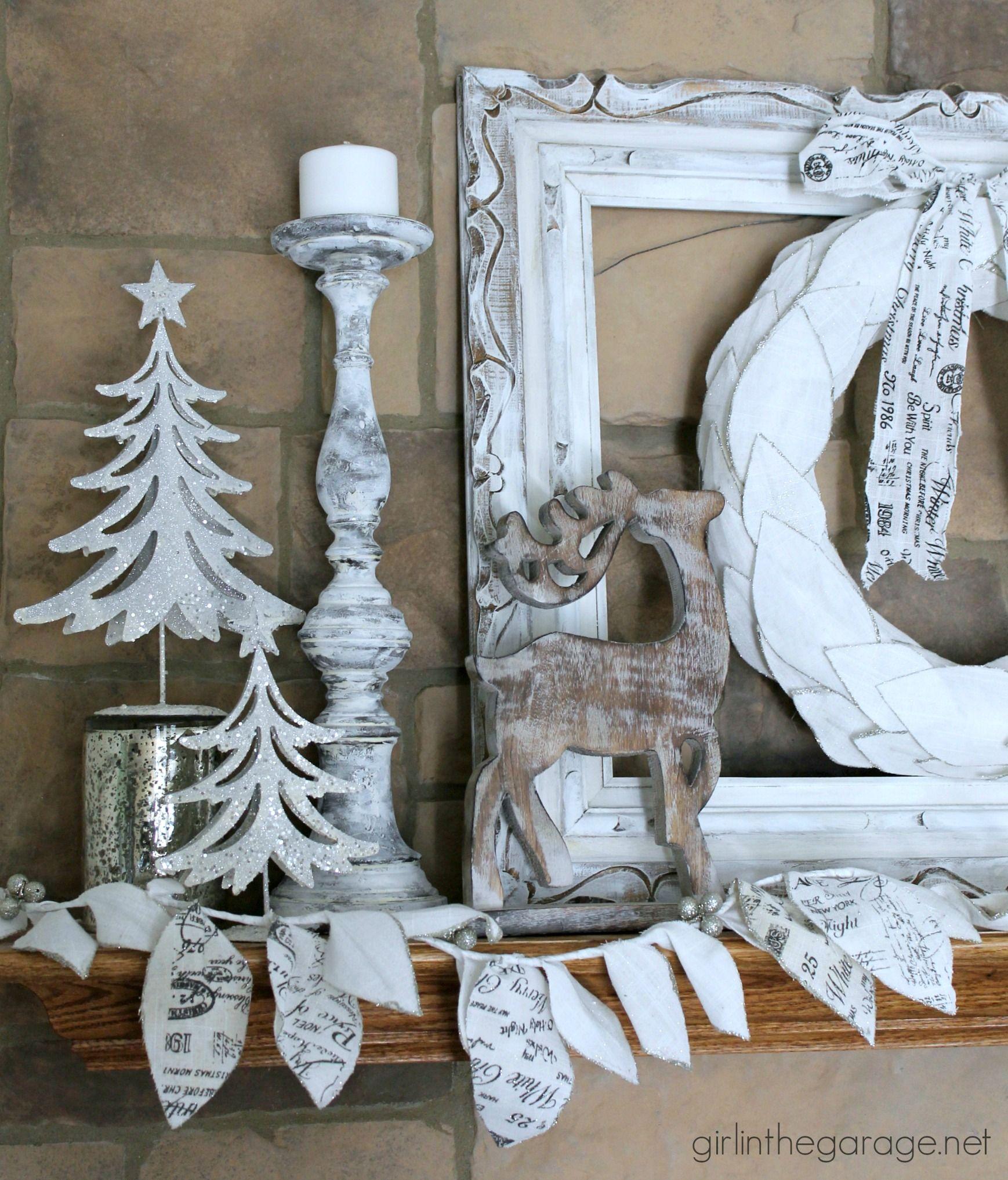 Winter Wonderland Christmas Mantel | Winter wonderland theme ...