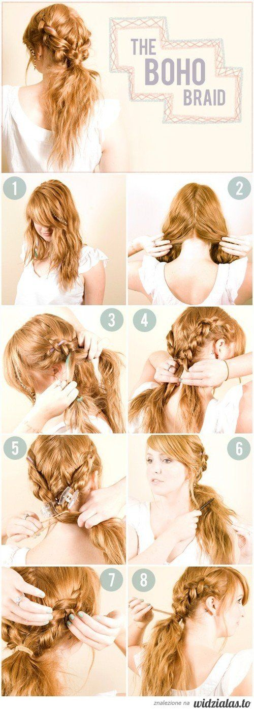I cannot braid my hair on the back of my head... BUT I I could I would do this! :D