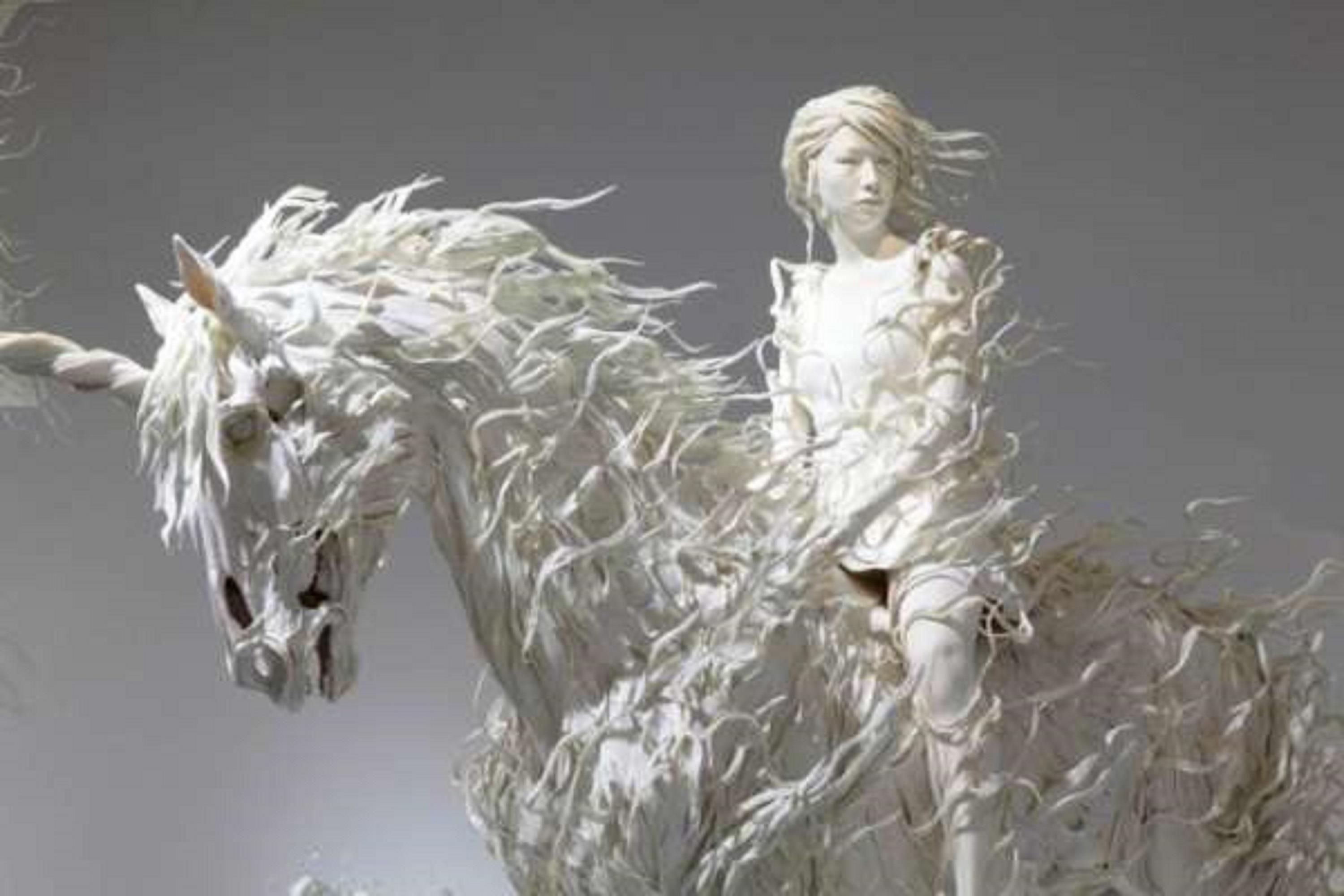 Odani Motohiko - Lady with a Silver Horse But it looks like a unicorn to me. And…