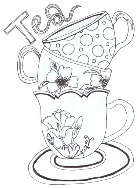 Teacups By Emma Printable Stencil Patterns Coloring Pages Stencils Printables