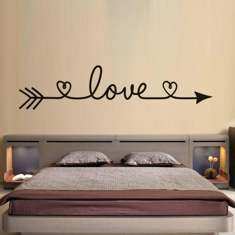 Das Wandtattoo im Schlafzimmer - Beliebte Motive und ihre - wandtattoos schlafzimmer sprüche