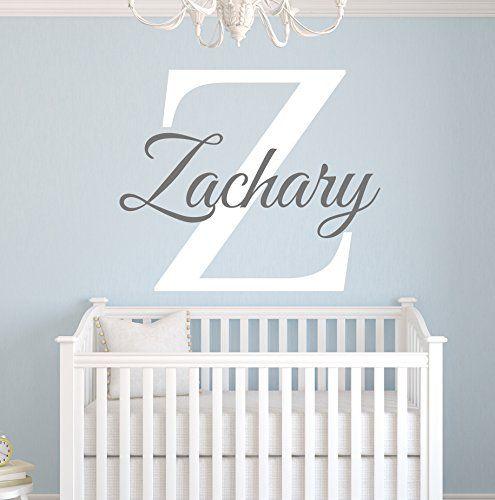 Custom Name Monogram Wall Decal For Boys Nursery Wall Decals Name - Monogram wall decal for nursery