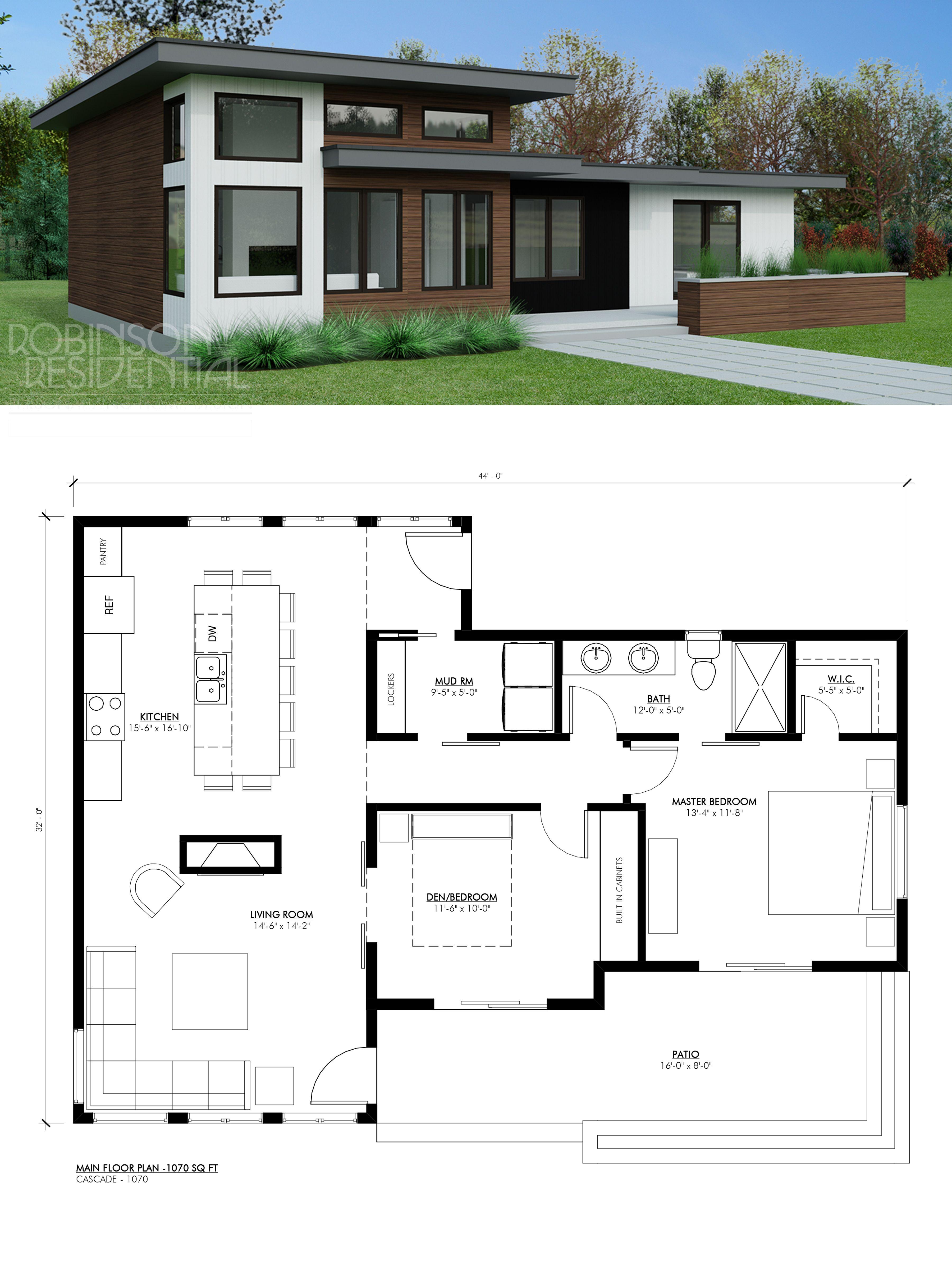 Contemporary Cascade 1070 Robinson Plans Sims House Plans Building Plans House Bungalow House Plans