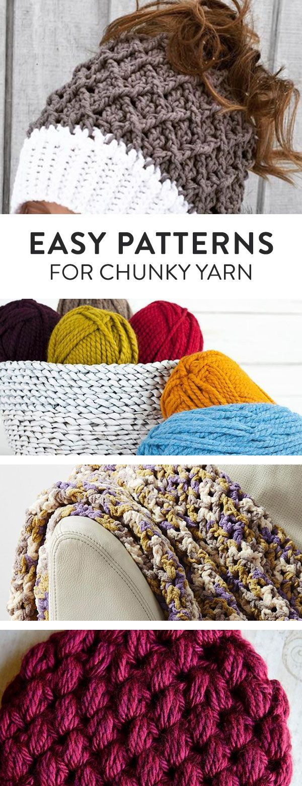 The Best Chunky Yarn Crochet Patterns for Quick Projects | Easy ...