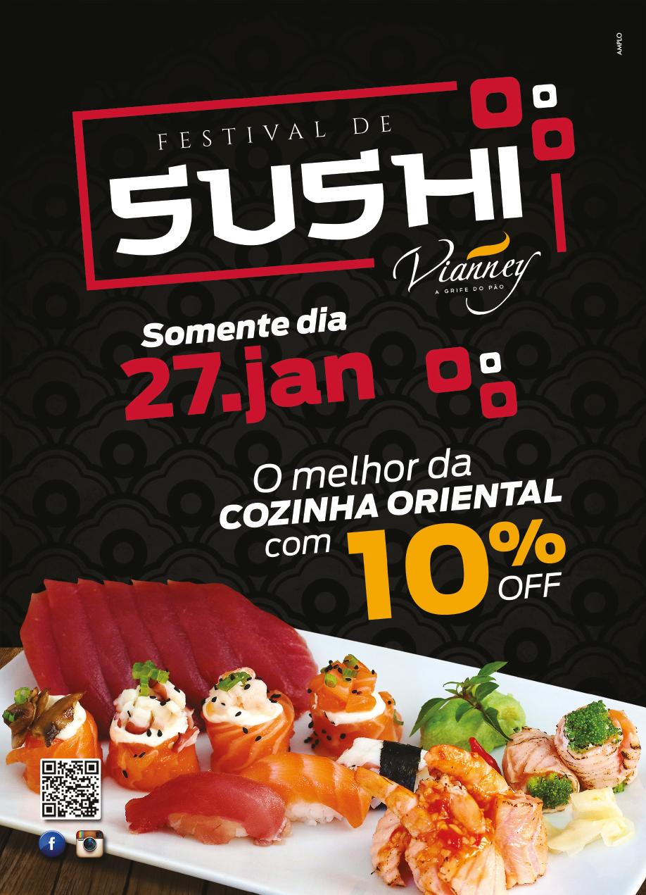 O Sushi mais gostoso de BH com 10% de desconto. Dia 27/01.