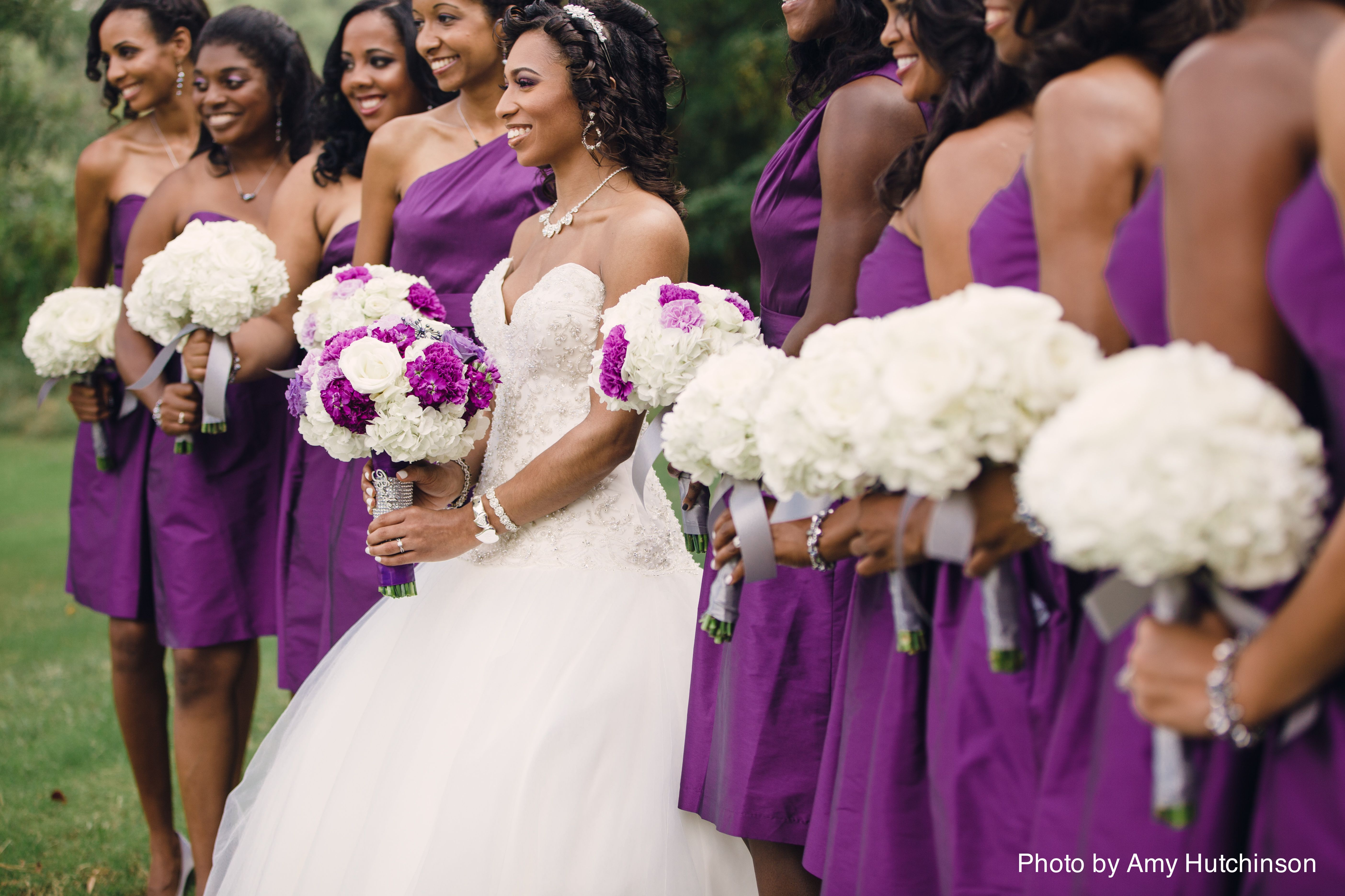 Bride ReNelle With Her Pretty In Pink Bridesmaids Photo