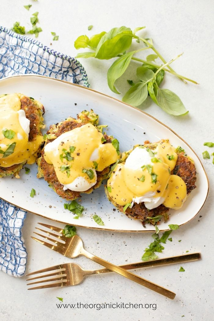 Farmhouse Eggs Benedict On Zucchini Fritters Paleo Whole30