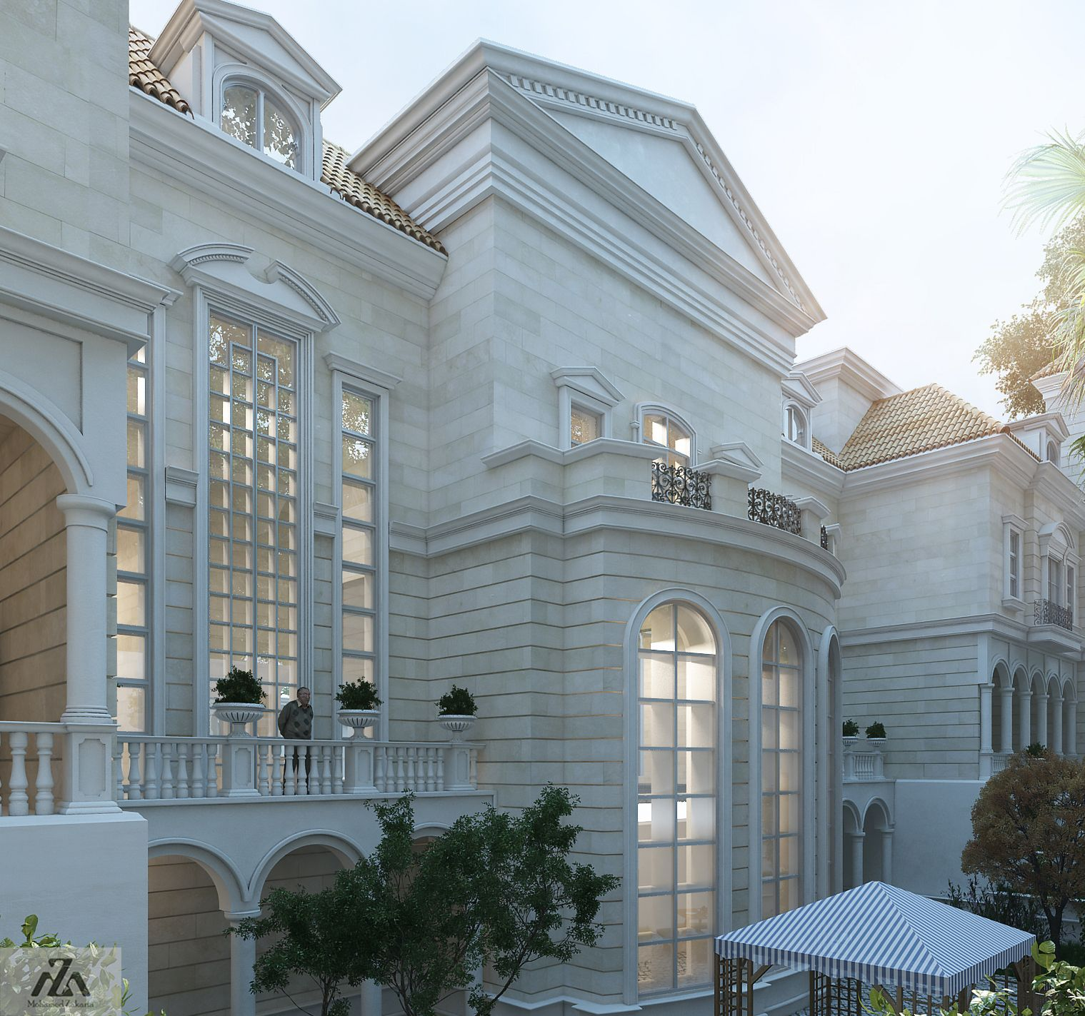 Quality Home Exteriors Design: Big Palace ProjectLocation Riyadh Saudi Arabia