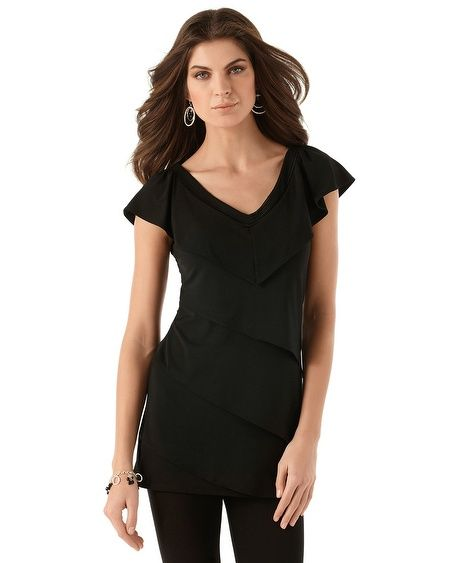 Tiered Solid Tunic  Style: 570075368 - X  $84