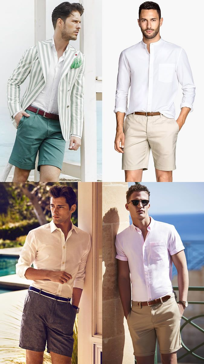 f4cb752e16ac Men s Summer Wedding Shorts Fashion Style Outfit Inspiration Lookbook
