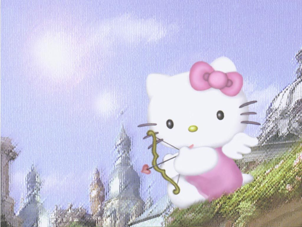 Cupid Hello Kittyjpg 1024768 Hello Kitty Pinterest Cats