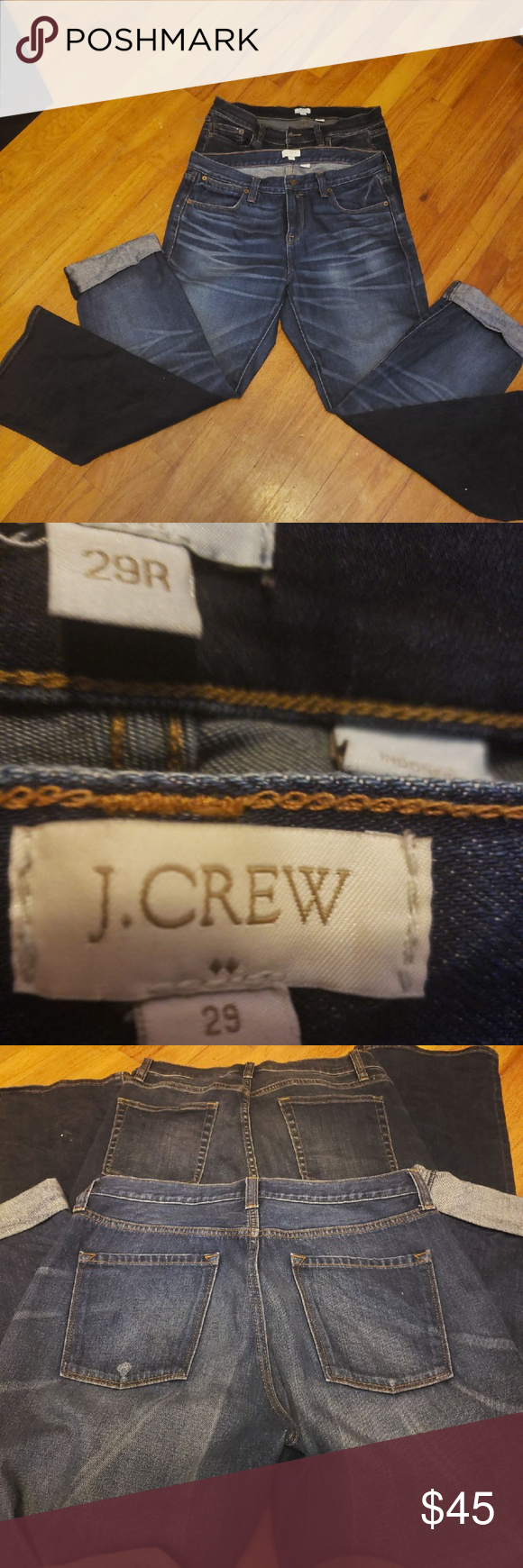 2 Pairs, Like New, Jcrew Jeans, Size 29 Lets double the fun woth these 2 pairs of J.Crew jeans!  PAI...