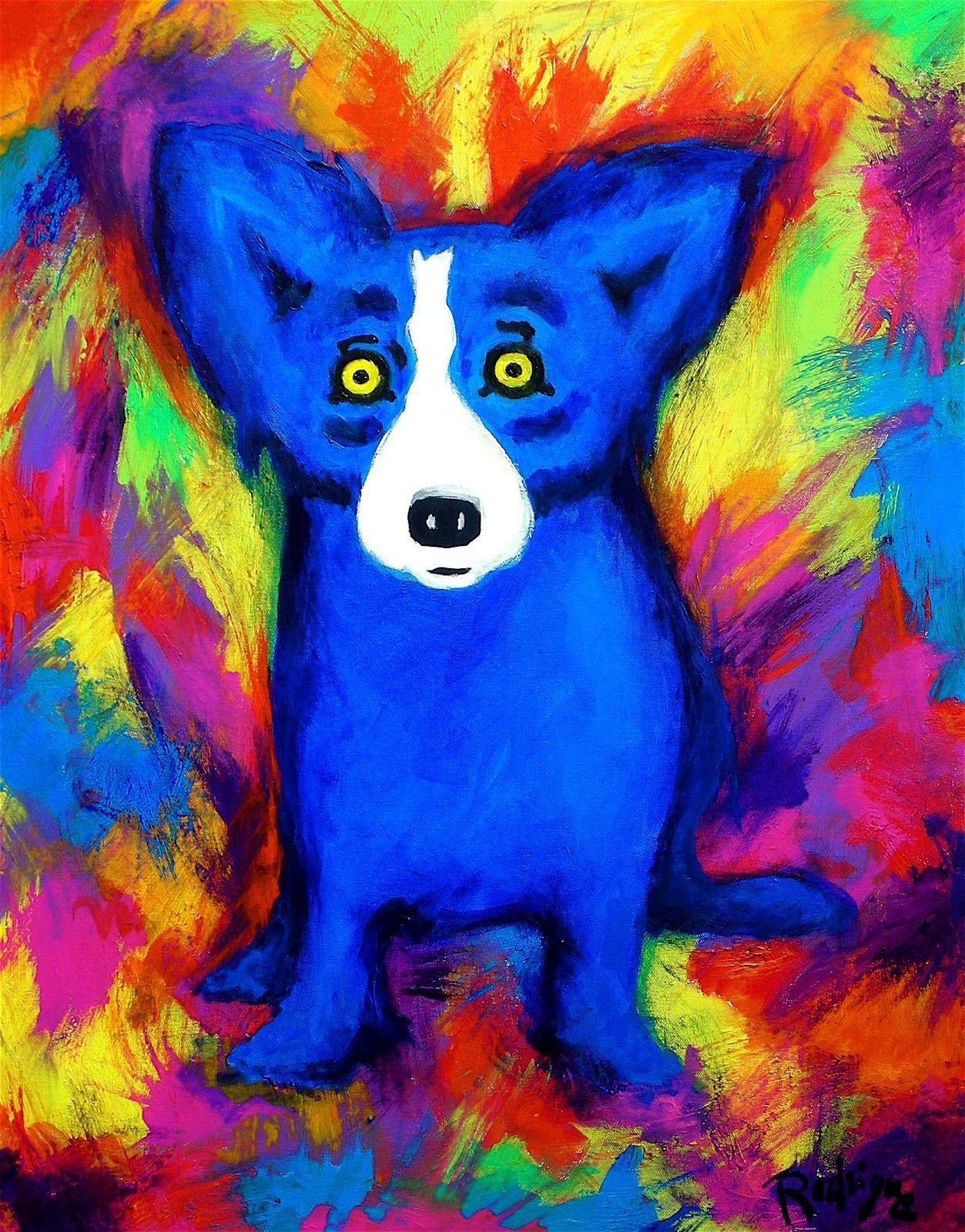 Blue dog rodrigue blue dog pinterest