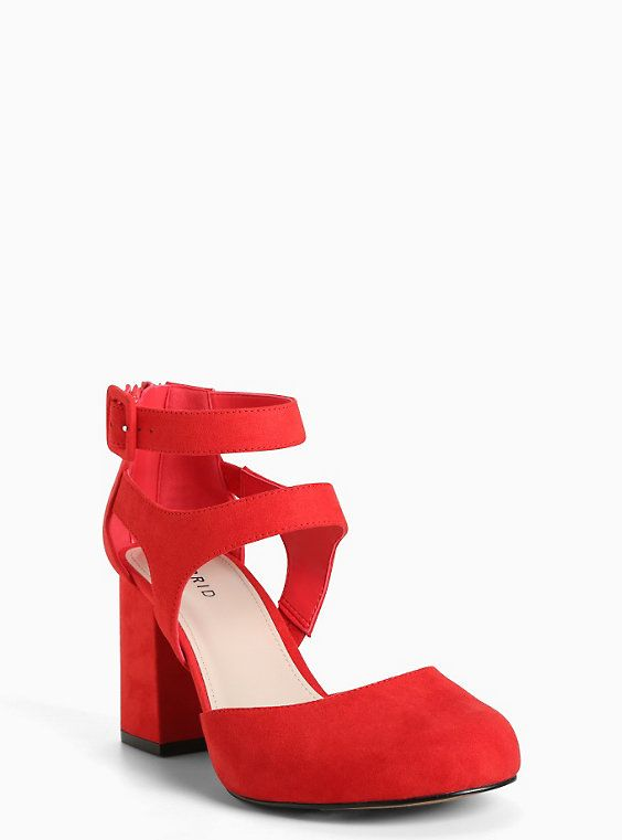 a01864fbe0f Faux Suede D Orsay Platform Heels (Wide Width)