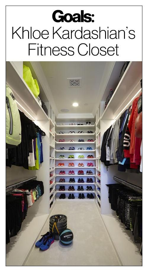 Khloé Kardashianu0027s Massive Fitness Closet Will Make Your Jaw Drop - design ideen tipps fitnessstudio hause
