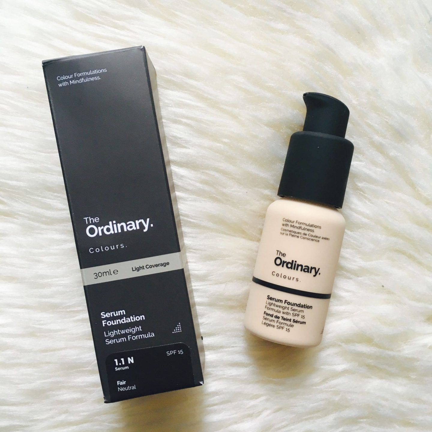 The Ordinary Colours Serum Foundation Review www
