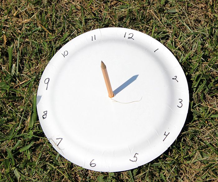 Sonnenuhr Basteln Grundschule Paper Plate Sundial - A Great Way To Get Kids Excited