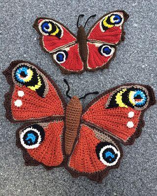 Dagpauwoog Vlinder Haken Klein Craft Ideas Pinterest Crochet