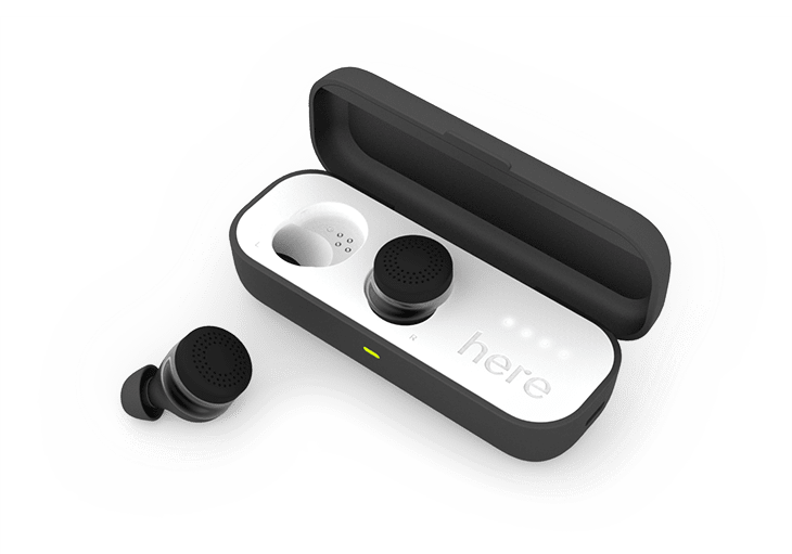 Here One Wireless Smart Earbuds and a Connected App