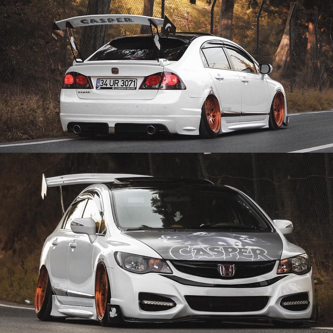 Istanbul Turkey Civic Si Nks Design Bumper Dual Exhaust Crazy Wing Front Splitter C Selsman Honda Civic Sedan Honda Civic Honda Civic Si