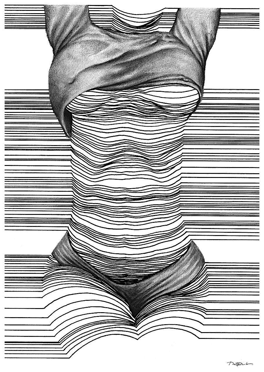 3d Line Drawings : Der in dublin lebende künstler nester formentera fertigt
