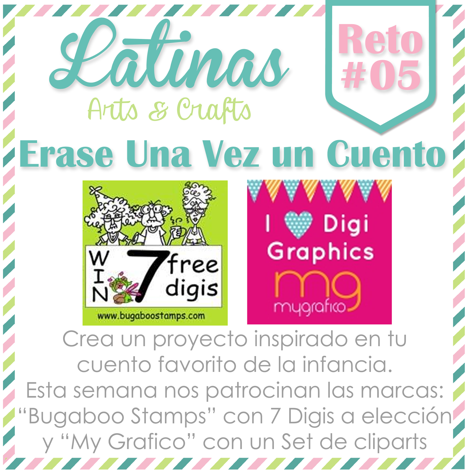 Latinas Arts and Crafts: Reto 05: Erase una Vez un Cuento