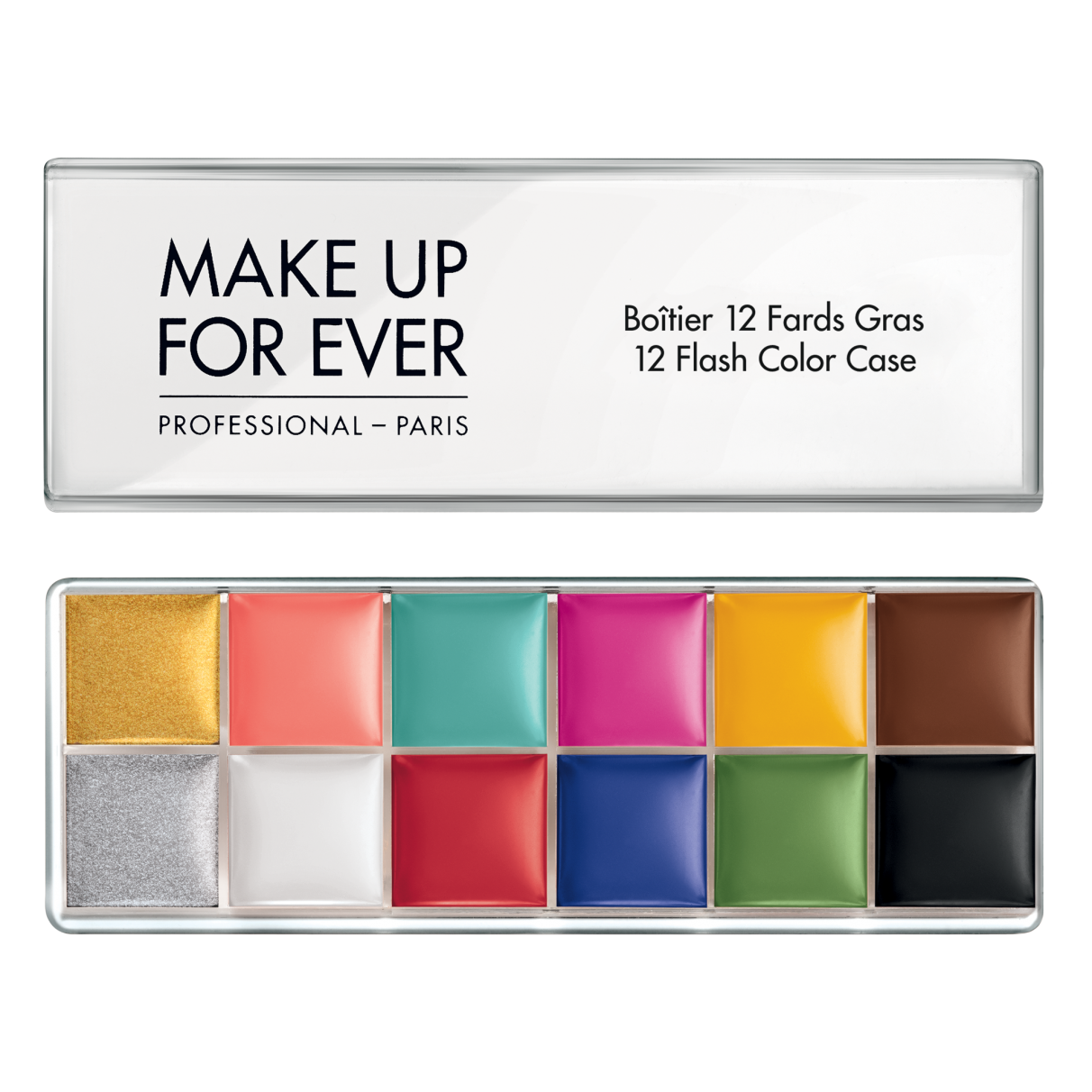MUFE 12 FLASH COLOR CASE A palette of 12 highly pigmented