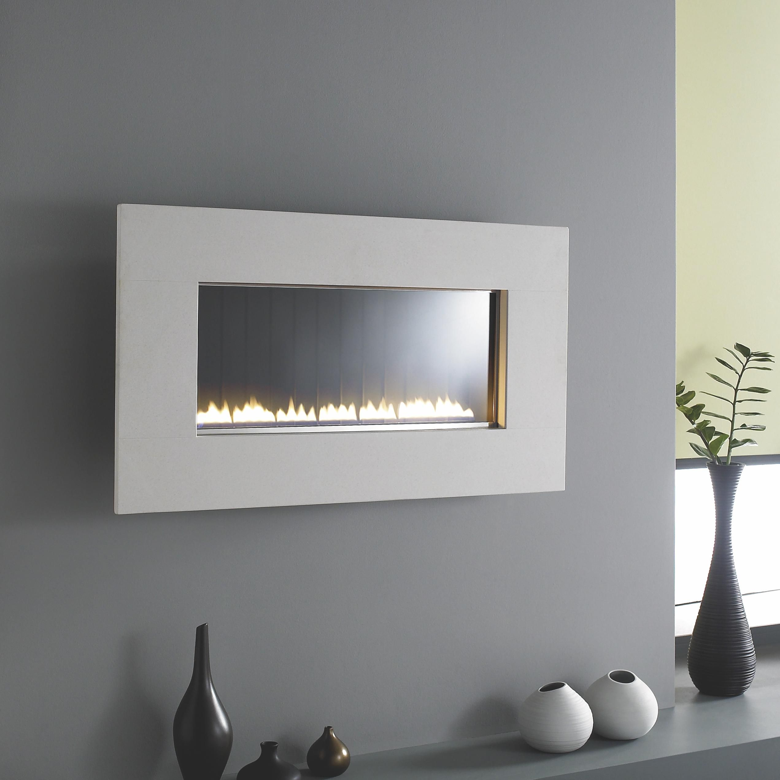 grand travetine flueless gas fire wall hung travertine in the