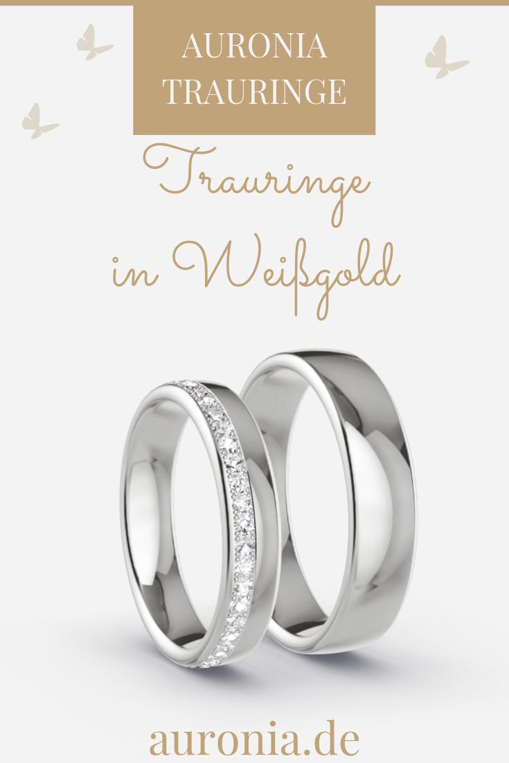 Trauringe Weissgold 333 – 0.44 ct. Diamanten – Modell Hamm