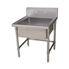 Whitehaus Collection Brushed Stainless Steel Laundry Sink Lowes